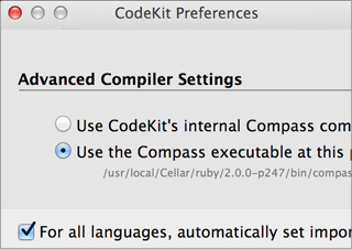 You may need to tweak Codekit settings to get your configuration just right.